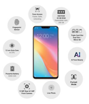 Vivo Y81 ( 32GB , 3 GB ) Gold Mobile Phones Online at Low