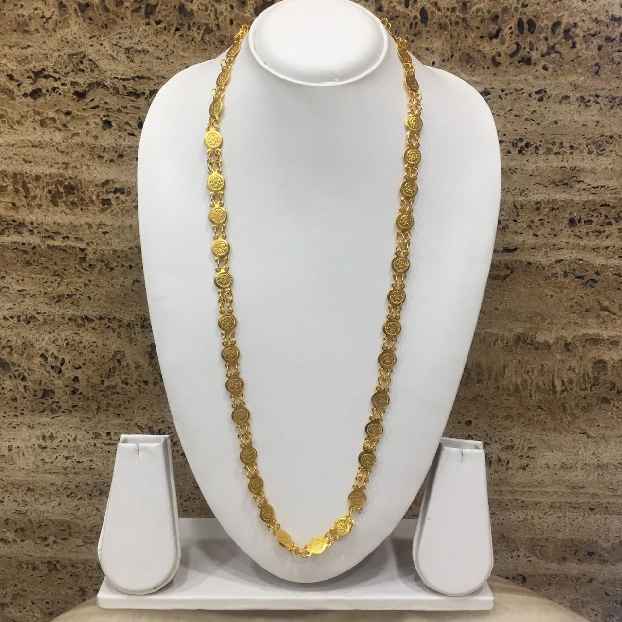 Digital Dress Women's Jewellery Gold Plated lakshmi coin Mangalsutra 30-inch Length Golden laxmi Coin pendant necklace Traditional Single Line Layer Long Mangalsutra For Women