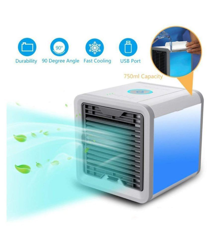 ZURU BUNCH Mini Air Cooler Less than 10 Personal Crystal White Royal Blue