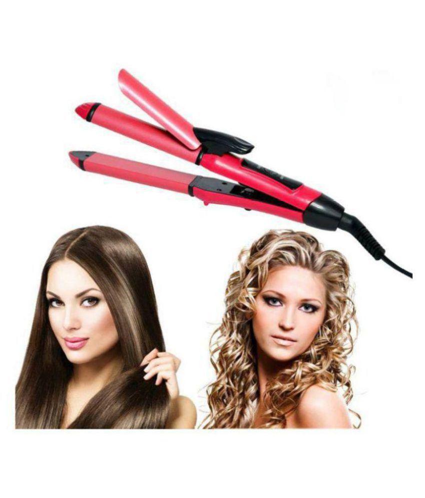 Iris Professional 2 in 1 Hair Straightener ( pink )