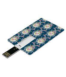 SmartNxt Credit Card Shape Designer 32GB Pen Drive -Patterns - Pink Rose