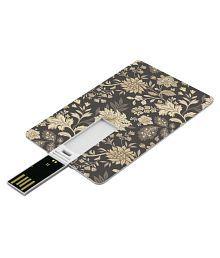 SmartNxt Credit Card Shape Designer 8GB Pen Drive -Patterns - Yellow Flower