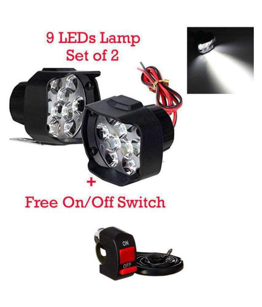 9 LED Bike Fog Light For Two Wheelers - Bright White