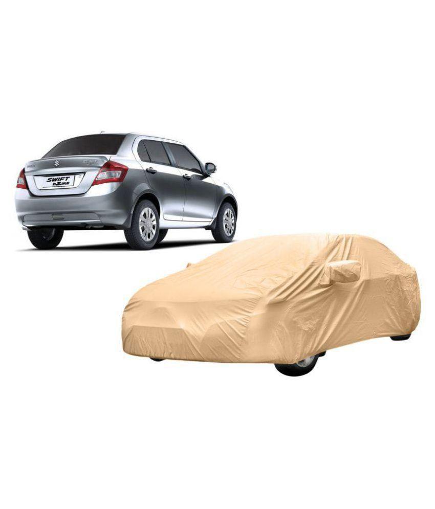 Alexus Car Cover for Maruti Suzuki Swift Dzire (Mirror Pockets) (Beige)