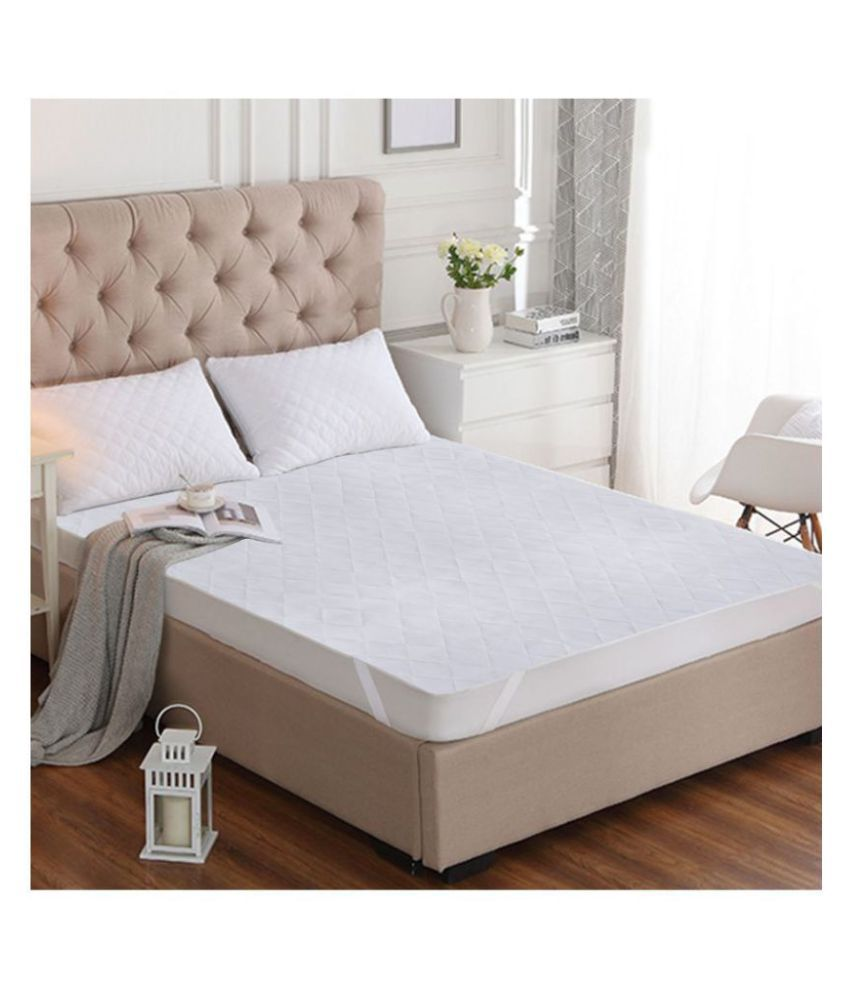 Story@Home MPR1403 White Cotton Mattress Protector