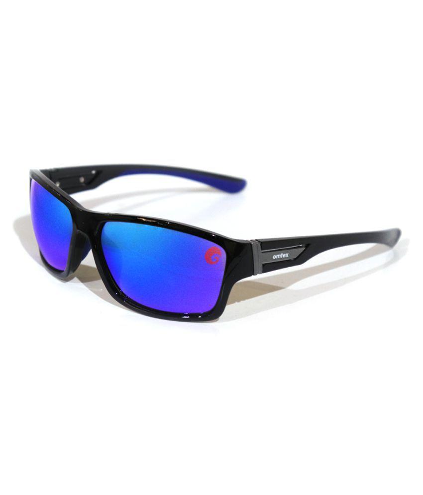 Omtex - Blue Wrap Around Sunglasses ( Max )
