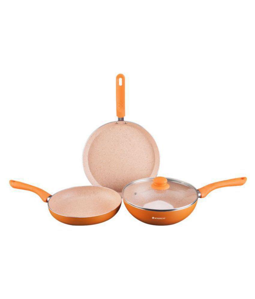 Wonderchef Royal Velvet Plus Set Orange 4 Piece Cookware Set