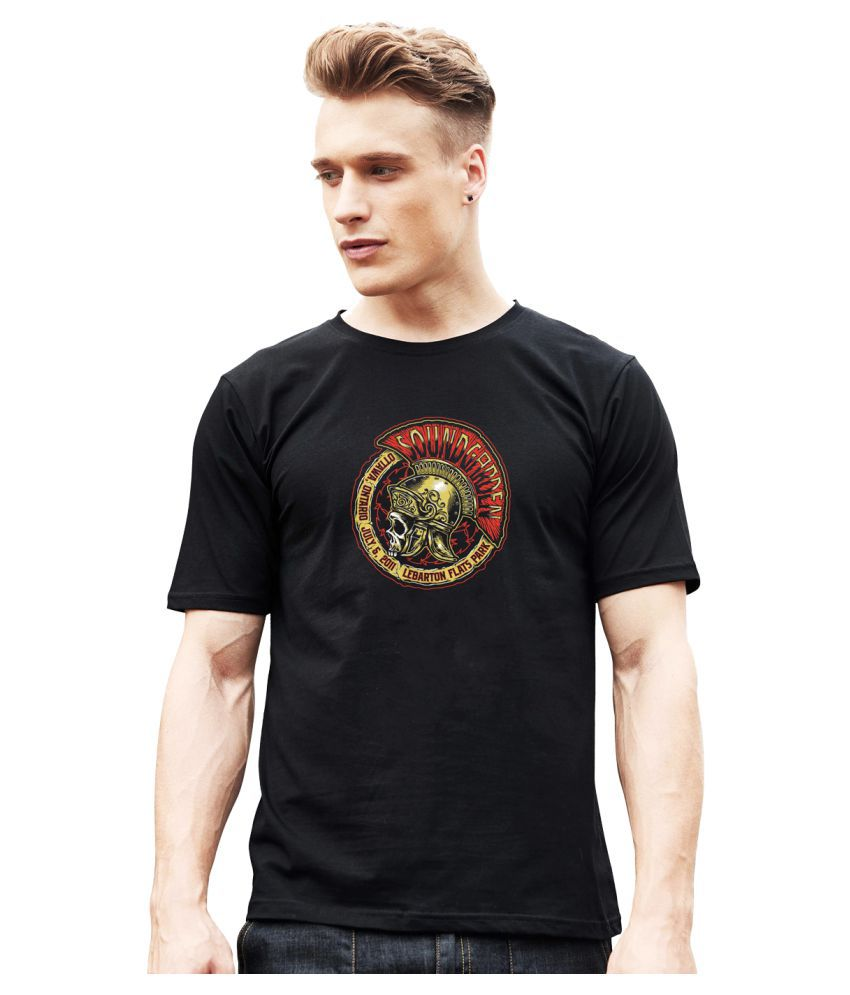 Mankee Tees 100 Percent Cotton Black Printed T-Shirt