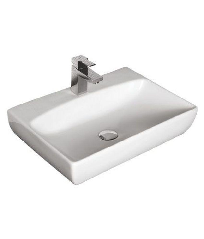 Ceramic White Ceramic Wall Hung Wash Basins