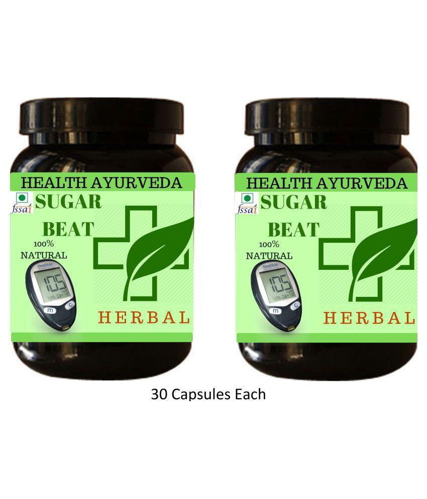 Health Ayurveda Sugar Beat Plus | Diabetes Control Capsule 60 no.s Pack Of 2