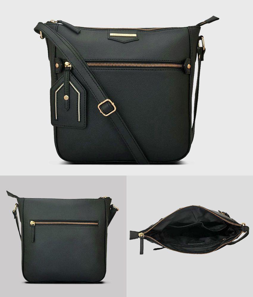 Lapis O Lupo Black P.U. Sling Bag
