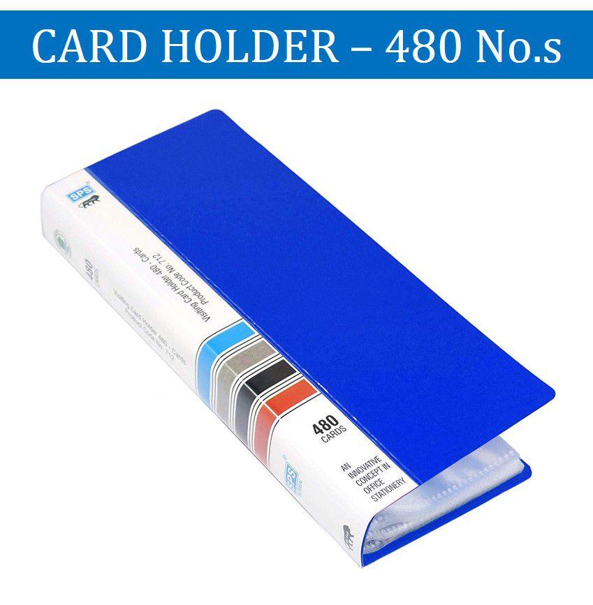 SPS Visiting Card Holder (480 Folder) - (Blue)