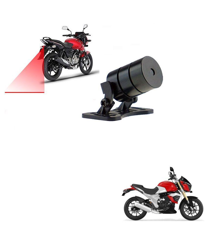Auto Addict Bike Styling Led Laser Safety Warning Lights Fog Lamp,Brake Lamp,Running Tail Light-12V For Mahindra Mojo