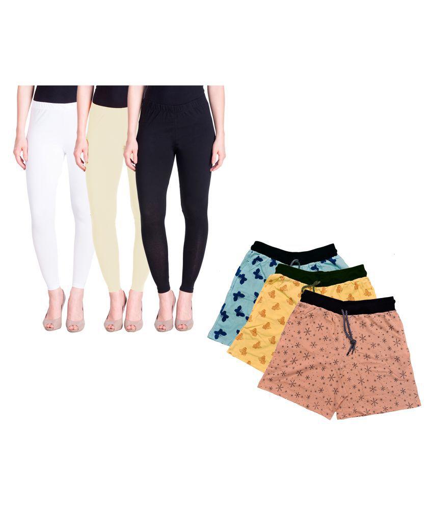 KAYU Cotton Pack of 6 Leggings