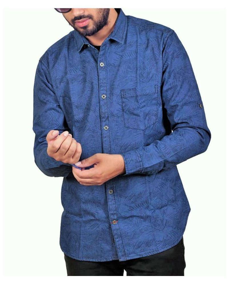 SB Group Denim Blue Prints Shirt