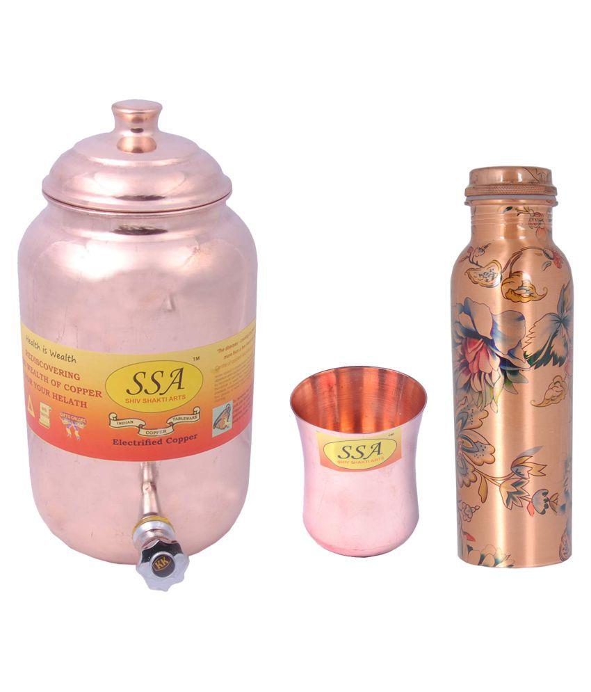 Shiv Shakti Arts Pot Glass Bottle Set 3 Pcs Lemon set