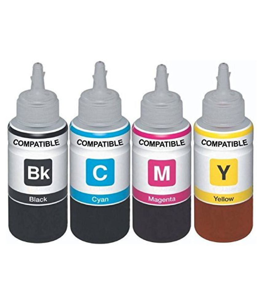 Kataria Refill Ink x 100ml Multicolor Pack of 4 Ink bottle for HP DeskJet 4535 All in One Wireless Color Ink Printer