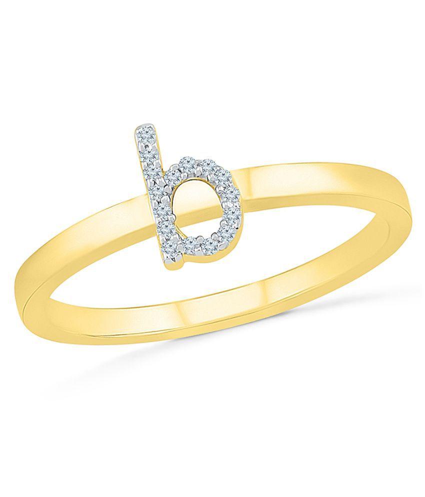 Sri Jagdamba Pearls 92.5 Silver Diamond Ring