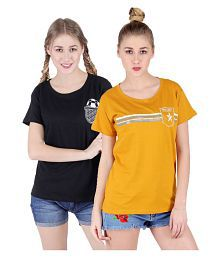 Broadstar Cotton Lycra Multi Color T-Shirts