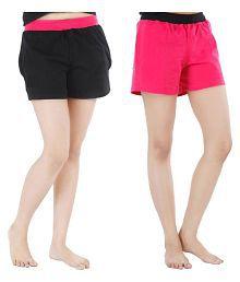 FeelBlue Cotton Hot Pants - Multi Color