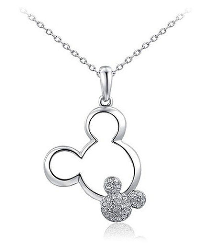 Destiny Copper Silver Contemporary Contemporary/Fashion Silver Plated Necklace (Fashion Jewellery)