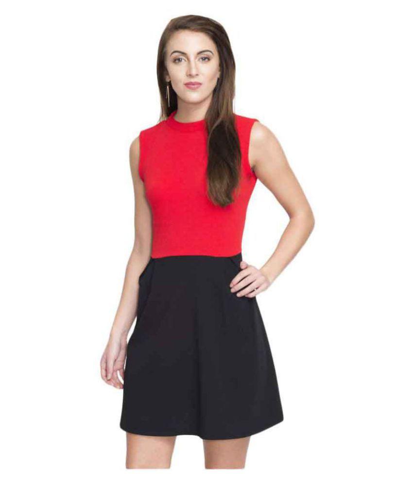 Addyvero Cotton Multi Color A  line Dress