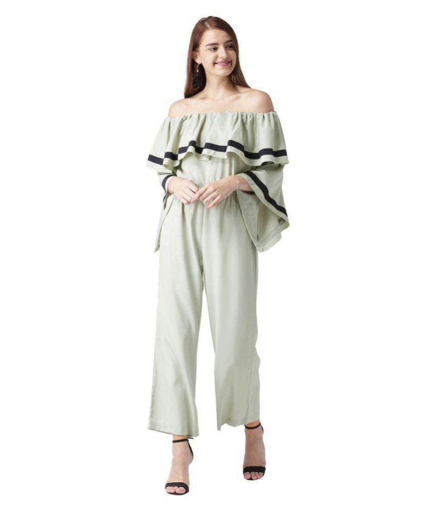 KASSUALLY Green Polyester Jumpsuit
