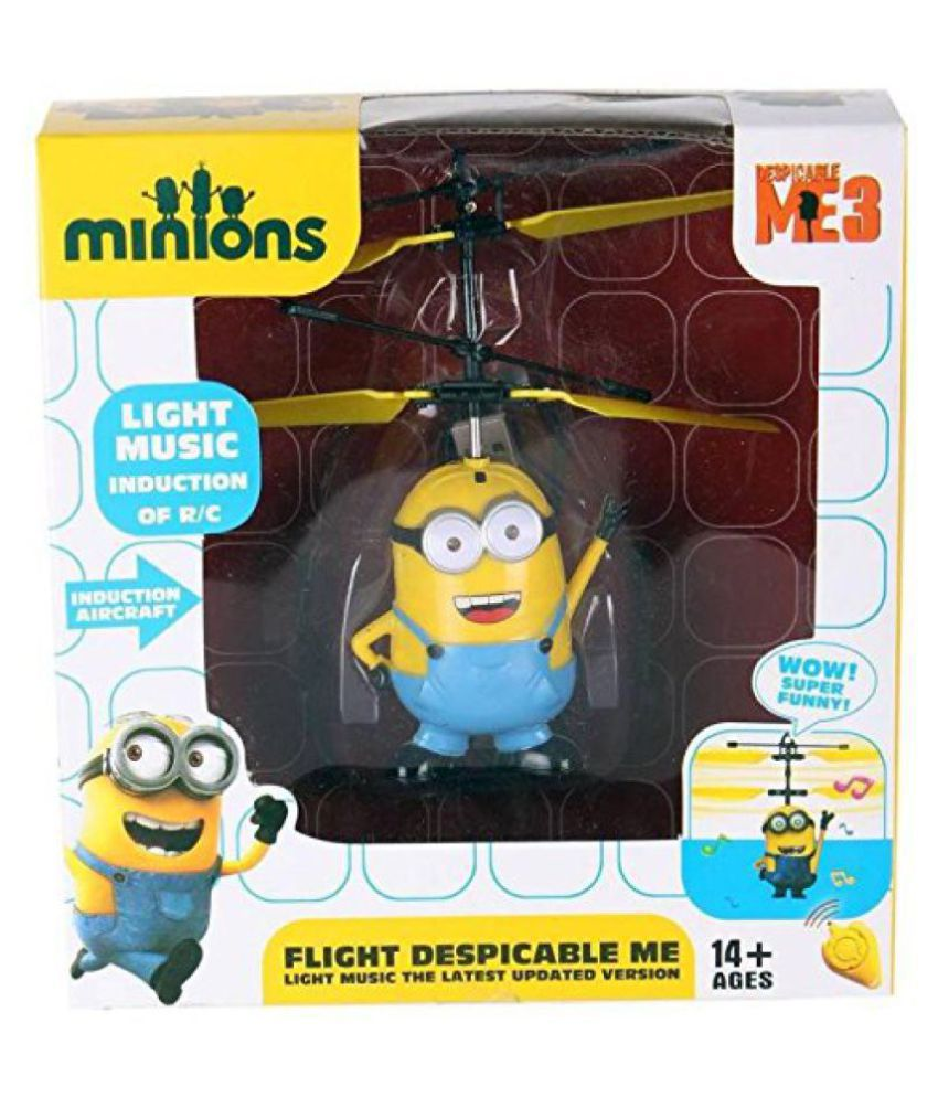 Rechargeable Flying Minion Helicopter (Yellow)