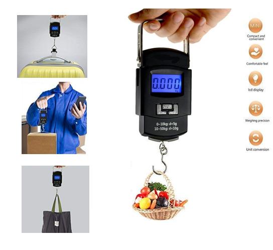 Pubali Digital Luggage Weighing Scales Weighing Capacity - Kg