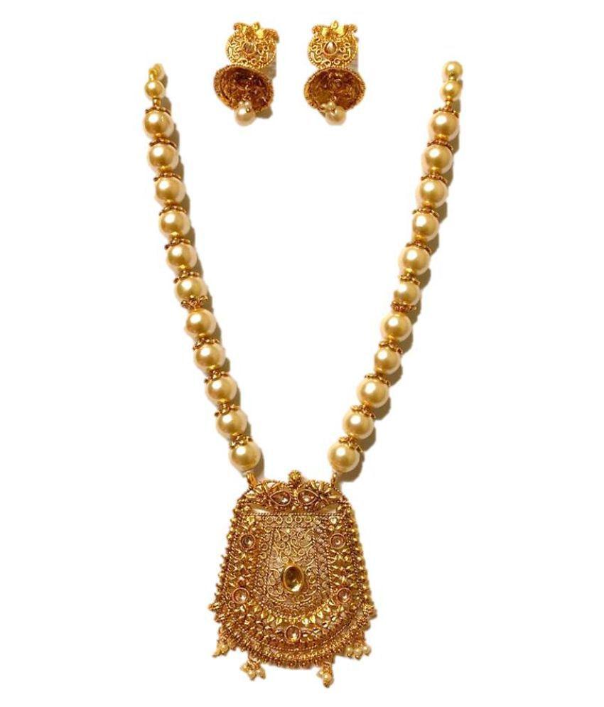 KATYAYNI Golden Designer Necklaces Set