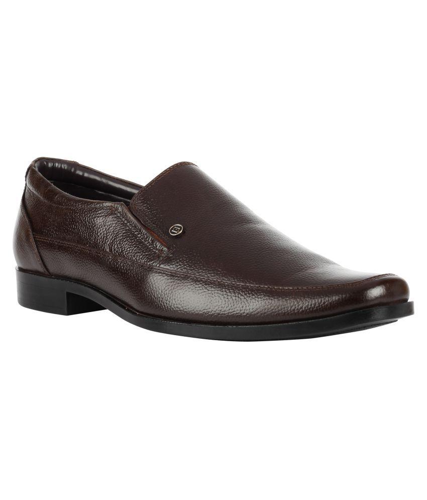Franco Leone Slip On Brown Formal Shoes