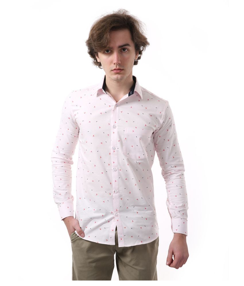 Vida Loca Cotton Blend Pink Prints Shirt