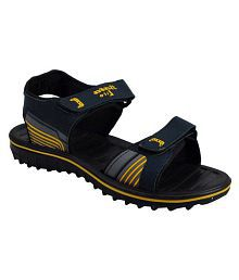 Bata Yellow Synthetic Floater Sandals