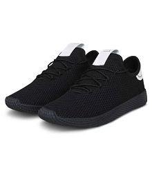 SMART SHOES Black Training Shoes