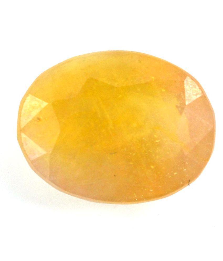 Nirvana Gems 11.25 -Ratti IGL Yellow Sapphire Precious Gemstone