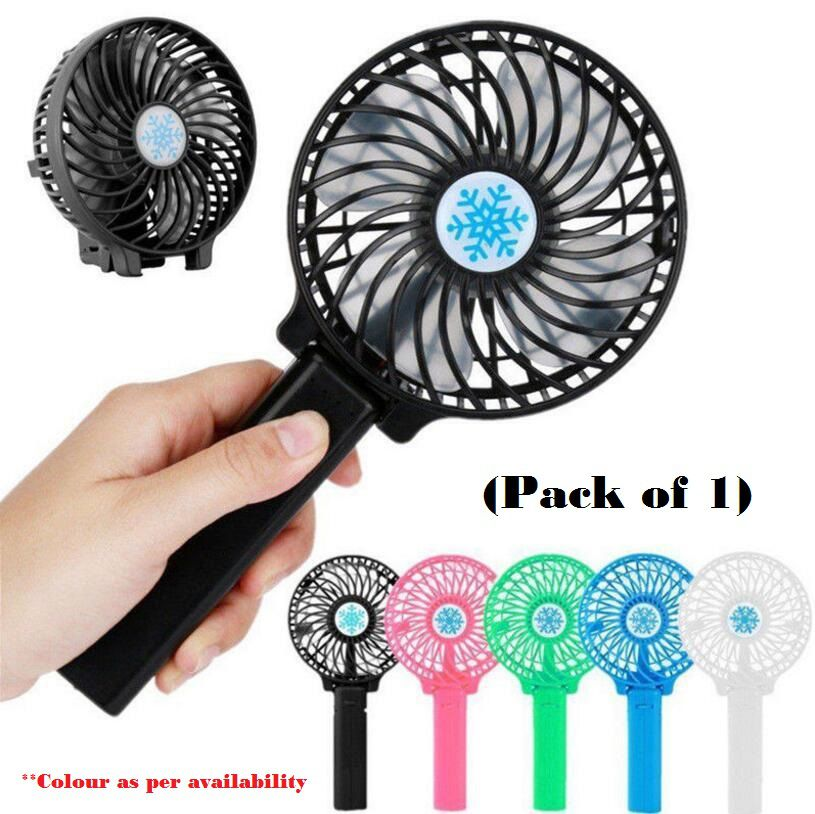 18650 Battery Portable Rechargeable Air Cooler Mini Operated Hand Held Fan USB