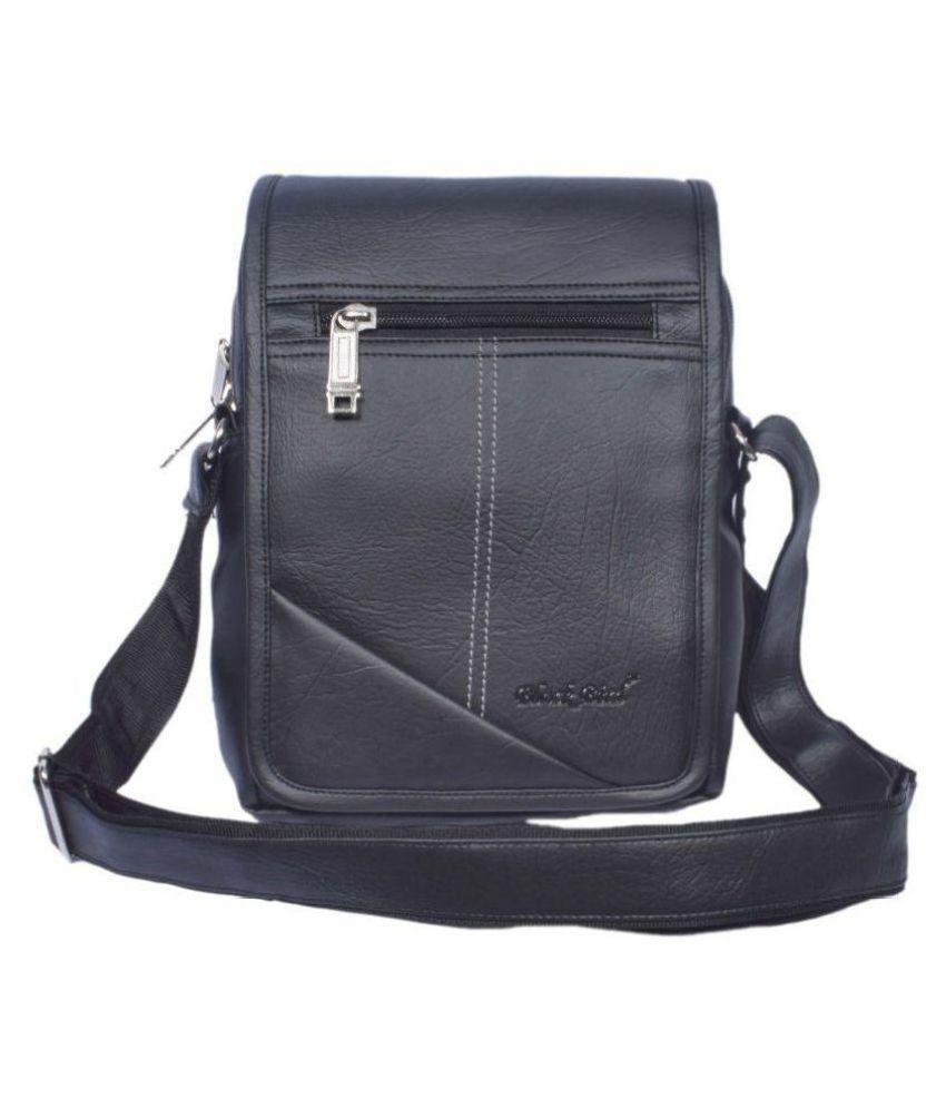 Black Bird Black Synthetic Office Messenger Bag