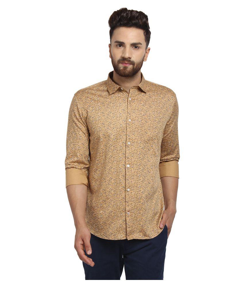 Cape Canary 100 Percent Cotton Gold Prints Shirt