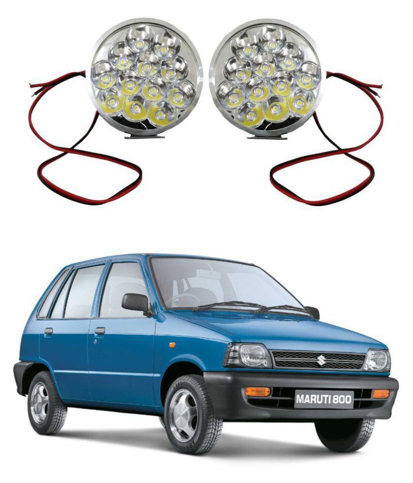 Trigcars Maruti Suzuki 800 LED Fog Lamp + Free Car Bluetooth