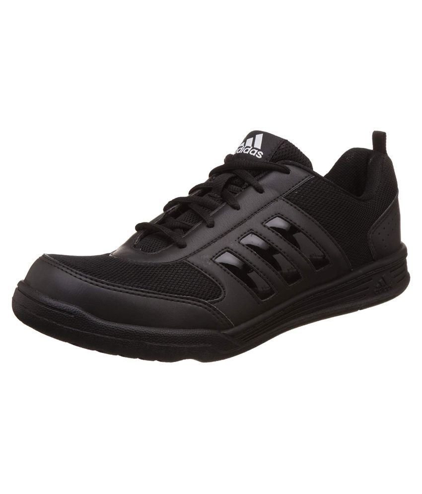adidas black school shoes with laces