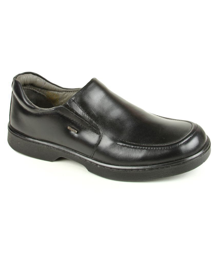 Liberty Slip On Black Formal Shoes