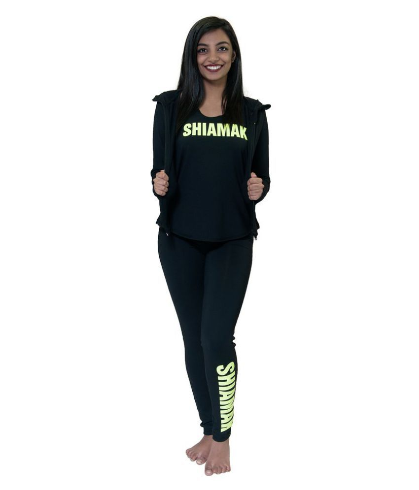 Shiamak Nylon Tights - Black