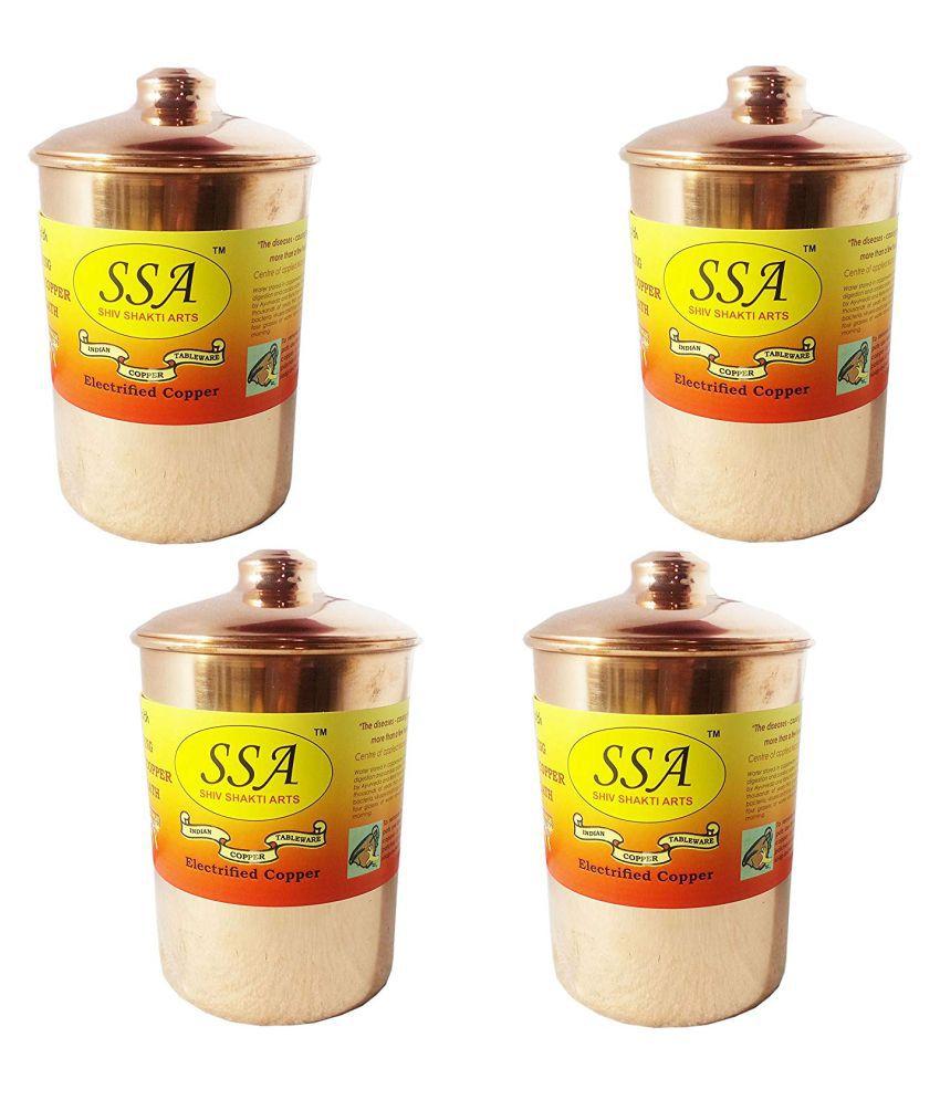 Shiv Shakti Arts box for storage Copper Food Container Set of 3 1800 mL