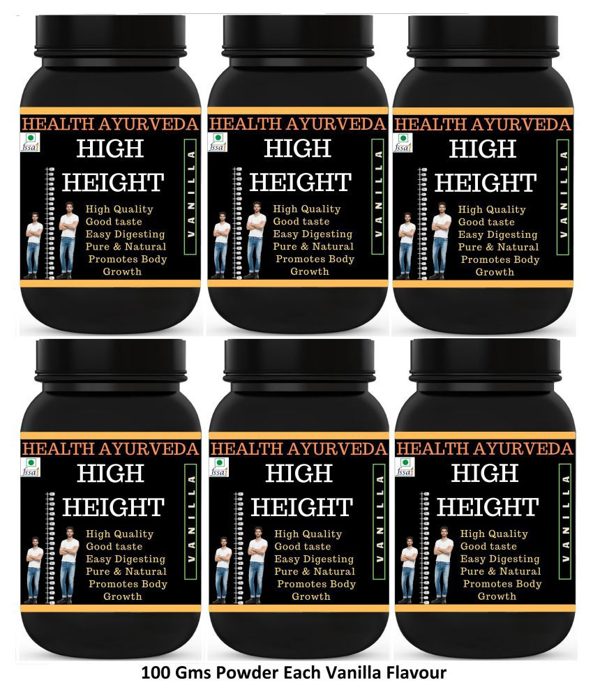Health Ayurveda High Height Vanilla Flavour Powder 600 gm Pack Of 6