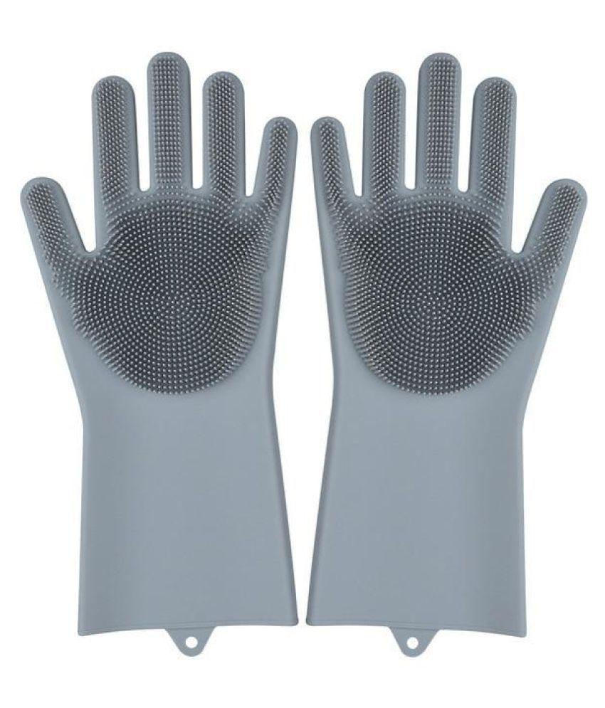 maitri Magic Silicone Scrub Polyester Universal Size Cleaning Glove