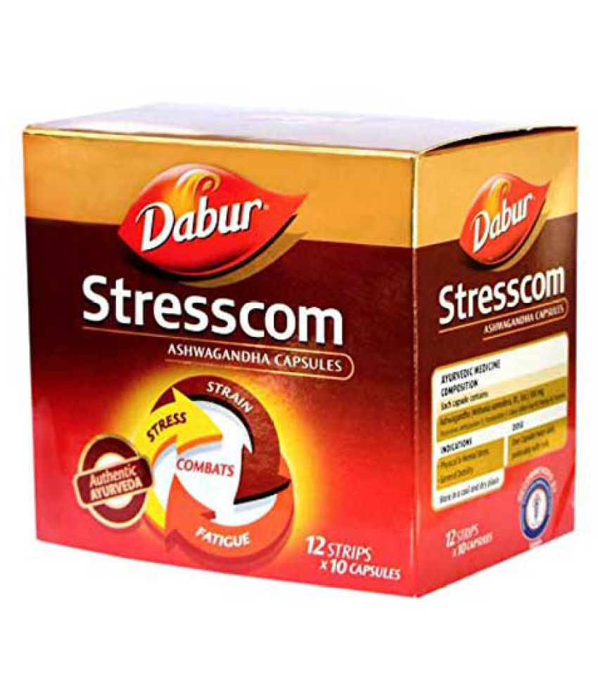 Dabur Stresscom Capsule 120 no.s Pack Of 1