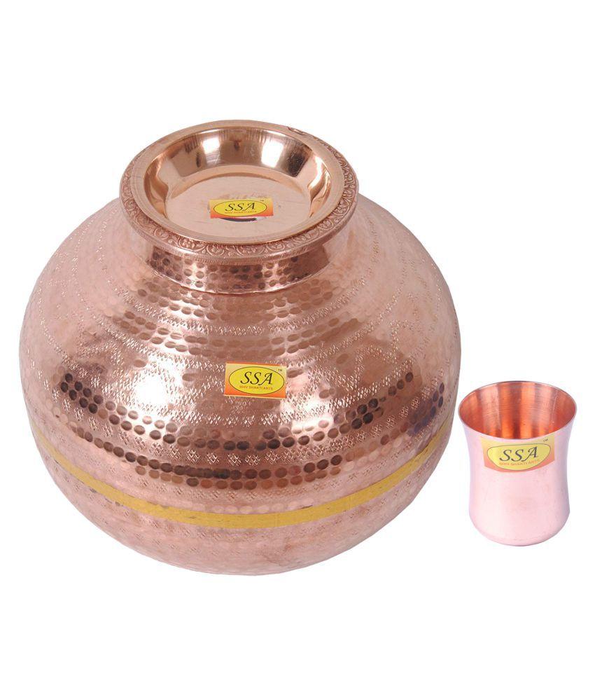 Shiv Shakti Arts Matka With 1 Glass 2 Pcs Lemon set