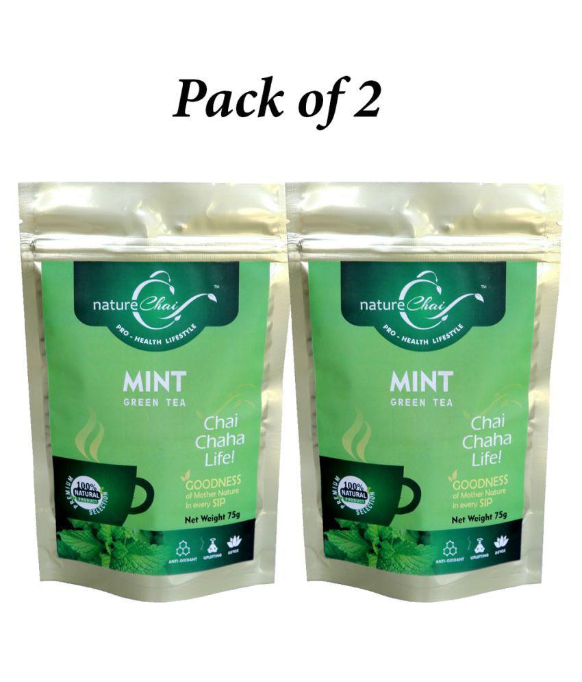 nature Chai Mint Tea Loose Leaf 75 gm Pack of 2