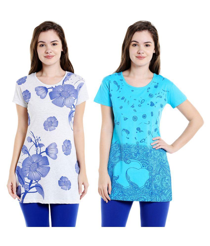 Bodyactive Pack of 2 Women's Printed Tshirts