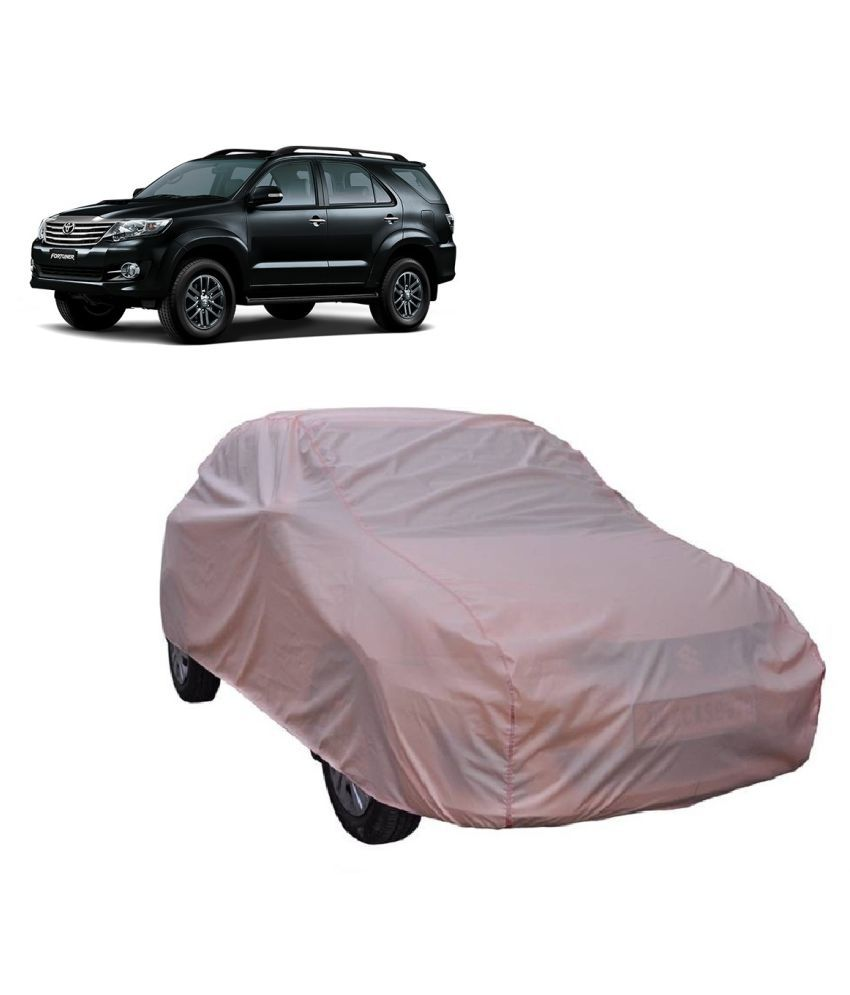 TOYOTA FORTUNER 4X4 PINK CAR BODY COVER WITH MIRROR POCKET